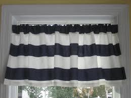 Blue Valances Window Treatments Nautical Horizontal Stripe Curtain Valance Navy By Justmeect