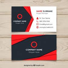 tarjeta de visita diseo diseño de tarjeta de visita roja y negra descargar vectores gratis