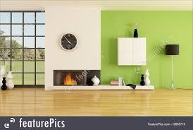 minimalist fireplace interior architecture minimalist fireplace stock illustration