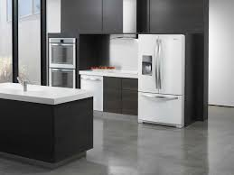 Kitchen With Dark Cabinets White Appliances And Dark Cabinets With Dark Cabinets And White
