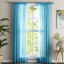 Turquoise Sheer Curtains Turquoise Curtains Wayfair