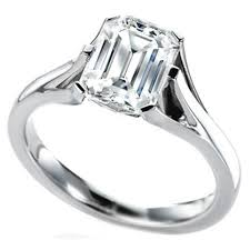 solitaire emerald cut engagement rings emeral engagement rings from mdc diamonds nyc