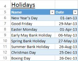 excel formula to get working days between two dates excluding