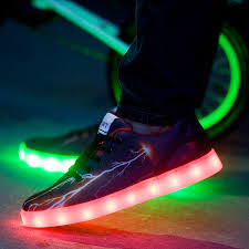 light shoes for mens 2016 new style men shoes with led lights glow luminous black