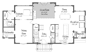 center colonial floor plan new post and beam colonial design from yankee barn homes