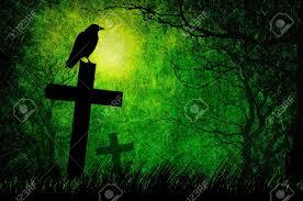 halloween raven background grunge textured halloween night background stock photo picture