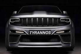 jeep srt8 grill tyrannos jeep grand srt8 emerges in russia