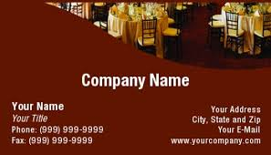 Catering Calling Card Design Template At74527 Banquet Hall