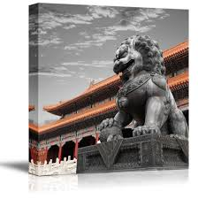 wall26 com art prints framed art canvas prints greeting wall26 black and white photograph with pop of color on the chinese temple canvas art home decor 12x12 inches
