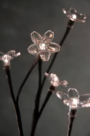 battery operated lighted branches crystal led lighted branch warm white 36 battery operated crystal