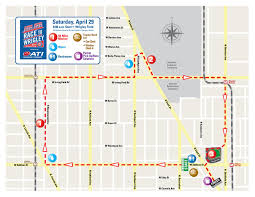 Blue Line Chicago Map by Course Information And Map Chicago Cubs Race To Wrigley