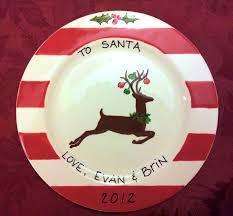 santa cookie plate cookies for santa santa plate babies