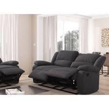 canap de relaxation canapé relaxation 2 places microfibre grise detente achat prix