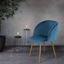 Blue Velvet Accent Chair Midcentury Velvet Chair Set Popsugar Home Photo 1