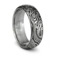 damascus steel wedding band photo gallery of wood grain men s wedding bands viewing 3 of 15
