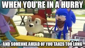 Sonic Boom Meme - impatience by xxmisery severityxx on deviantart