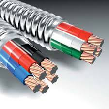 type mc steel metal clad cable with galvanized steel armor