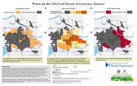 Map Of Lawrence Kansas Gis Exchange Map Details Where Are The 2016 Food Deserts In