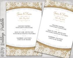 menu template black u0026 white diy wedding menu vintage