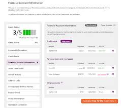 a sample report noddle sample credit report