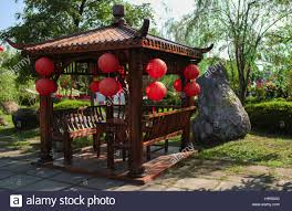 Pergola Lanterns by Classic Chinese Gazebo With Lanterns At Fo Guang Shan Temple Stock