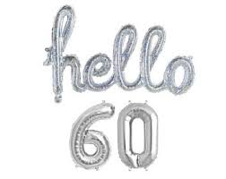 60 letters for 60th birthday 60th birthday party balloons 60th birthday decorations sixty