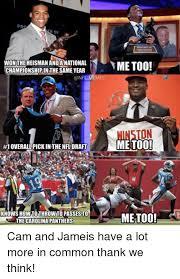 Carolina Panthers Memes - pr r of won the heisman anda national chionship inthe sameyear