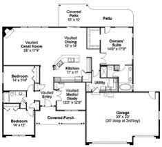 Houses Floor Plans by House Plan 40026 Total Living Area 1492 Sq Ft 3 Bedrooms U0026 2