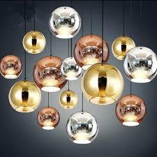 Modern Pendant Light Fixture Modern Pendant L Copper Shade Mirror Glass Suspension