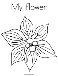my flower coloring page twisty noodle