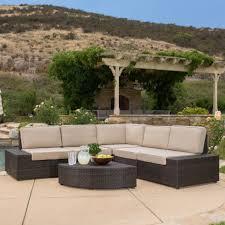 Wicker Outdoor Patio Furniture Furniture Cool Wicker Patio Furniture 6 Seats Bella All Weather