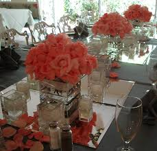 Square Vase Flower Arrangements Wedding Flowers Ideas Peach Coral Wedding Flowers Centerpieces