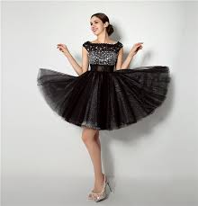in stock crystal lace fashion little black dresses cap sleeve