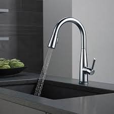 touch2o kitchen faucet shop delta essa touch2o arctic stainless 1 handle deck mount pull