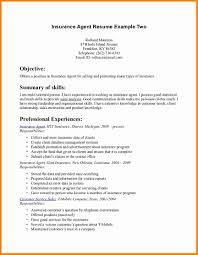 Insurance Agent Resume Sample by Insurance Resume Examples Free Resume Example And Writing Download