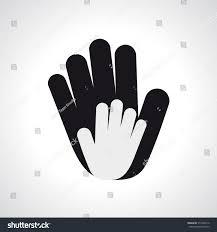 vector icon two hands help solidarity stock vector 512498116