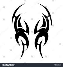 tatoo design tribal tribal tattoo art designs sketched simple stock vector 614607302