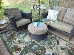 Design For Garden Table by Outdoor U0026 Garden Plaid Brown Cheap Outdoor Rug For Patio With