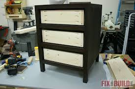 How To Make A Bedside Table Out Of Wood by Diy 3 Drawer Nightstand Fixthisbuildthat