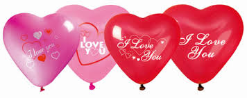 heart balloons i you printed heart balloons