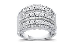 daimond ring up to 87 on 1 2 cttw diamond ring by decarat groupon goods