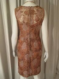 1950 s coffee lace beaded vintage cocktail dress rolande
