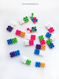 make your own dominoes from perler beads