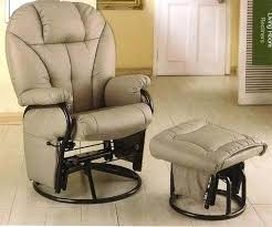 Glider Recliner With Ottoman For Nursery Fascinating Rocker Glider Recliner With Ottoman Taptotrip Me