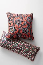 orange decorative throw pillows for couches beds anthropologie