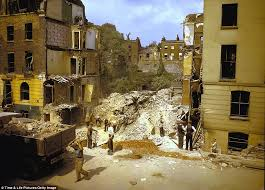 colour pictures revealed of london blitz from bombers in