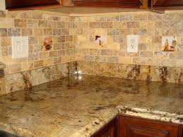 ideas for kitchen backsplash with granite countertops again the subway tile travertine and the same granite and existing