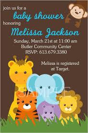 jungle theme baby shower invitations ilcasarosf com
