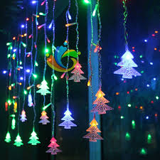 christmas tree shaped lights wholesale christmas tree shaped string fairy light 96 led eu us plug