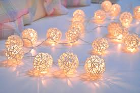white string lights 35 bulbs white rattan string lights for